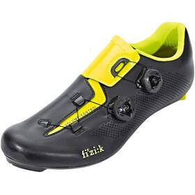 Fizik Aria R3 Rennradschuhe Unisex schwarz/gelb fluo